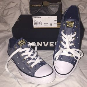 Converse All Star ⭐️ Blue Dot Sneakers